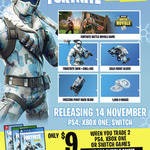 [XB1, PS4, Switch] Fortnite: Deep Freeze Bundle - $9 When Trading in 2 Eligible Games @ EB Games