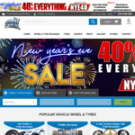 40% off Everything + Free Shipping @ Ozzy Tyres