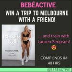 Win a Return Trip (Sydney-Melbourne) for You and a Friend to Train with Lauren Simpson Worth over $1000 from bebéActive