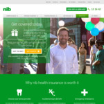 NIB Health Insurance Combined Hospital and Extras Cover - up to $400 off