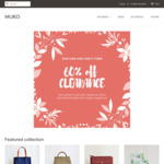 60% off All Items, Journals from $4, Handmade Bags from $6 + Delivery (Free above $50 Spend) @ MUKO
