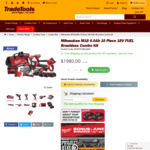 Milwaukee M18 6.0ah 10 Piece 18V FUEL Brushless Combo Kit M18FPP10B2-603P $1980 Delivered @ TradeTools