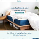 10% off Koala Mattresses, Bed Bases, Pillows & Sheets @ Koala
