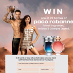 Win 1 of 20 Bottles of Paco Rabanne Fragrance (Invictus or Olympea Legend) Worth $106/ $126 Each from Daily Mail