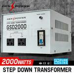 2000W GENPOWER Step down Transformer 240V-110V $76.80 Delivered @ Edisons eBay