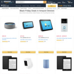 Black Friday Device Deals: Kindle $99, Paperwhite $149, Echo Show (2nd) $269, Echo (3rd) $99, Ring Stick Up $199 Del @ Amazon AU