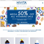 50% off All Vitamins Range @ Hivita