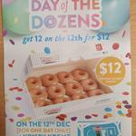 [WA] A Dozen Original Glazed Dougnuts for $12 @ Krispy Kreme, Whitford City