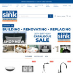 20% off Almost Everything at The Sink Warehouse [Australia Wide]