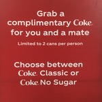[VIC] Complimentary Coke for You and Mate for Valentines Day @ Southern Cross Melbourne