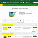 Woolworths Mobile $30 Starter Pack for $10