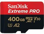 SanDisk Extreme Pro A2 U3 V30 microSDXC Memory Card 400GB $117 Shipped or C&C @ Officeworks