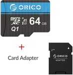 ORICO Micro SD Card Memory Card & Card Adaptor 64GB, A$13.65/US$9.59 Delivered @ GearBest