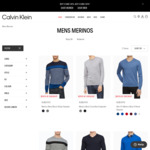 Calvin Klein Merino Wool Jumpers: Crew Neck or Slim Fit V-Neck - $29.95 + $7.95 Delivery or $0 with $100 Spend @ Calvin Klein