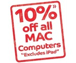 10% off all Macs @ Good Guys (excludes iPad) - on their catalogue