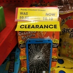 Fake Cracked Phone Screen Prank $0.10 (80% off) @ The Reject Shop