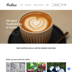 40% off All Coffee Orders & Free Shipping for Orders over $50 @ Frankie's Beans