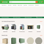 Garden Sheds: +20% off Most Sheds and Flat Rate Shipping $88 @ Garden Depot