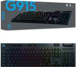 [ebay plus] Logitech G915 Linear Wireless Mechanical Gaming Keyboard @ $266.01