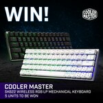 Win 1 of 5 Cooler Master SK622 Wireless RGB LP Mechanical Keyboards from PC Case Gear