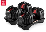 2 Pack of Fortis 24kg Smart Adjustable Dumbbells $249 Delivered @ Kogan