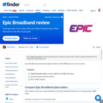 nbn Unlimited Data Plans $5/Month off: NBN50 $54/Month, NBN250 $94/Month (New Customers Only) @ Epic Broadband via Finder