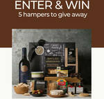 Win 1 of 5 Cheese & Wine Hampers Worth $112 from Gourmet Basket