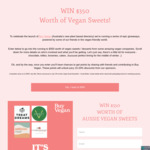 Win $350 of Vegan Sweets / Desserts - Chocolate, Lollies, Brownies, Cake and More from Buy Vegan