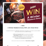 Win a Winter Weekend Away & Wine Pack Worth $1,200 from Jam Shed Wine