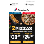 [NSW] Free Garlic Bread with Online Delivery Orders ($22 Min Spend, Participating Stores) @ Domino's