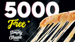 5000 Free Simply Cheese Pizzas (Starts 5/9) @ Domino's (Facebook Required)