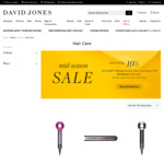 10% off Dyson Hair Care Products + up to $100 Gift Card (Dyson Supersonic $494 + $50 Gift Card) Express Shipped @ David Jones
