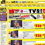 15% off LG TV's at JB Hi-Fi