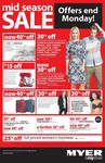$15 off for Every $75 Spent on Small Electrical Items + Other Deals @ Myer. Starts Tomorrow
