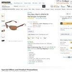 Ray Ban Men's Polarised Sunglasses RB3478 A $104.61 Shipped