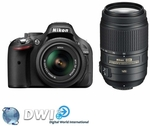Nikon D5200 Twin Kit with Nikon 18-55mm VR and 55-300mm VR Lenses $815 for Metro