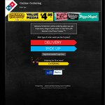 Domino's 3 Pizzas + Coke & Garlic Bread $20.95 Pickup $30.95 Delivered