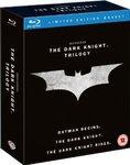 The Dark Knight Trilogy (Blu-Ray + UV Copy) [2012] [Region Free] £12.5 + £3.58 Postage @ Amazon