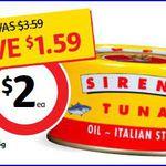 45% off Sirena Tuna 185g Varieties $2.00 at Coles (Save $1.59) [VIC/NSW/ACT]