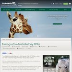 Taronga Zoo - Australia Day Long Weekend - 40% off Adult & Child Tickets (Sydney) (Membership or FB Like Required)