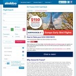 $150 CASH BACK with Air France on Skiddoo