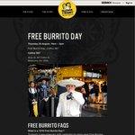 Guzman Y Gomez Free Burrito Day, 20 August @ 567 Collins St, Melbourne 11AM-3PM [VIC]