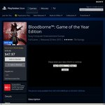 [PSN] Bloodborne: Game of the Year Edition $39.99 With Subscription or $47.97 Without