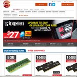 Kingston RAM Sale: 4GB from $27, 8GB from $45, 16GB from $99, HP NAS G1610T $289 Delivered @ Shopping Express