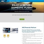 ANZ Rewards Platinum Credit Card - 75,000 Points after First Spend (No Min), $0 Annual Fee