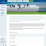 Win a Trip for 2 on The Ultimate Antarctic Adventure Worth over $36,000 from Peregrine