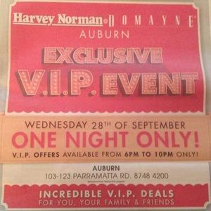 free shipping 2583b 23bf9 Harvey Norman/Domayne Auburn VIP Sale Event 28th September ...