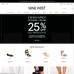 Nine West 25% off Full Priced Styles - Sat 12/11 and Sun 13/11 Only - Instore and Online
