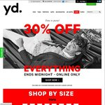 [Extended] Yd. 30% off Everything for Black Friday (Inc. Sale) + Additional 20% off