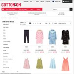 Cotton On Kids - Up to 50% off on Selected Items for as Low as $3.50